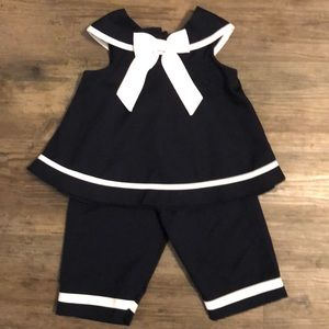Rare Editions Sailor Matching Top and Pants- 24 mo